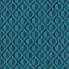 Onszelf Botanique Behang 538663 Modern/Cirkels/3D/Retro/Blauw