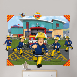 3D Pop Out Wall 44609 Fireman Sam Walltastic Decoration - Dutch Wallcoverings