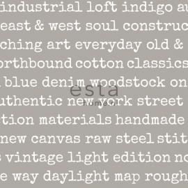 Esta Home Denim & Co Behang 137704 Grafisch/Industrieel/Tekst Behang