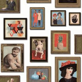 Origin Wunderkammer Behang  346-347464 Schilderijen/Klassiek/Lijsten