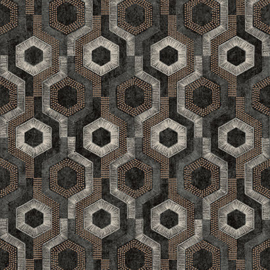 Dutch Wallcoverings Galactik Behang L92719 Modern/Retro/Hexagon/Zeskant/Stippen
