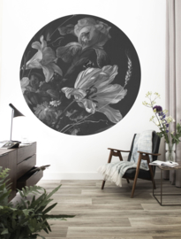 Kek Circle/Wonderwalls CK 010 Romantisch/Klassiek/Bloemen/Cirkel Fotobehang - Dutch Wallcoverings