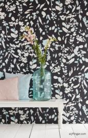 Eijffinger Black & Light  356219 Romantisch/Bloemen/Bladeren Behang