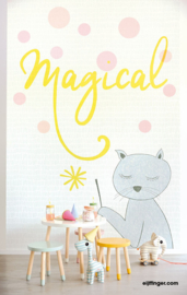 Eijffinger Wallpower Junior Behang 364189 Magical/Poes/Toverstok/Kinderkamer Fotobehang