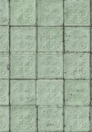 Arte Brooklyn Tins Behang Tin-05 Tegel/Vintage/Verweerd/Landelijk