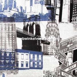 Noordwand Kids@Home Individual Behang 104631 Fresco New York Blue/Black/Steden/Tiener