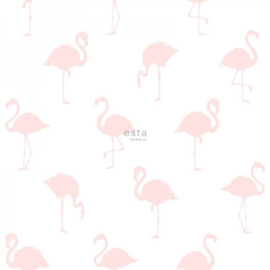 Esta Home  Little Bandits Behang 138918 Dieren/Flamingo/Roze/Baby/Kinderkamer