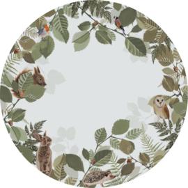 Esta Home Forest Friends Zelfklevende Behangcirkel/Circle 159069 Forest Animals/Bosdieren