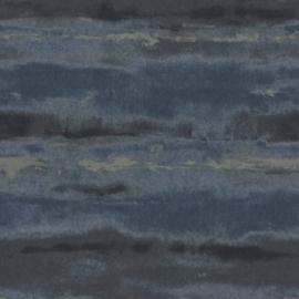 Rasch Amiata 296098 Strepen/Aquarel/Horizontaal/Modern/Blauw Behang