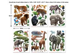 Walltastic 2020 /Decor Kit/ Jungle Adventure 46528 Dieren/Bos/Kinderkamer Stickers