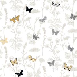 Noordwand #Hashtag Behang 11013 Botanisch/Natuurlijk/Landelijk/Planten/Vlinders