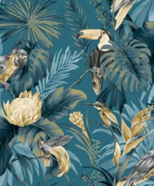 Noordwand Amazzonia Behang 22008 Tropical/Botanisch/Bladeren/Vogels/Toekan