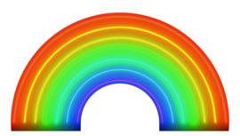 Noordwand Good Vibes Fotobehang GVC24312 Rainbow/Regenboog/Halve Cirkel/Modern