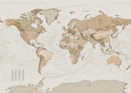 Komar Home Imagine Edition 4 Fotobehang X7-1015 Earth Map/Wereldkaart/Werelden