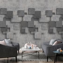 Dutch Wallcoverings One Roll One Motif Behang A42701 Chess/Steen/3D/Modern/Industrieel
