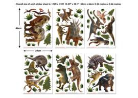 Walltastic 2020/ Decor Kit/ Dinosaur Land 46535 Dinosaurus/Dieren/Kids/Kinderkamer Stickers