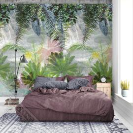 Behangexpresse Colorful Behang INK7312 Jungle Love/Botanisch/Bloemen/Bladeren Fotobehang