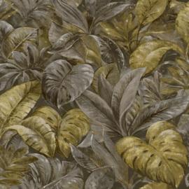 Dutch Wallcoverings/First Class Utopia Behang 91110 Anori Ochre/Botanisch/Bladeren/Natuurlijk/Modern