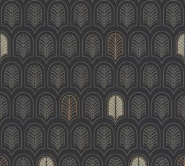 AS Creation New Life Behang 37683-3 Modern/Grafisch/Art Deco/Zwart