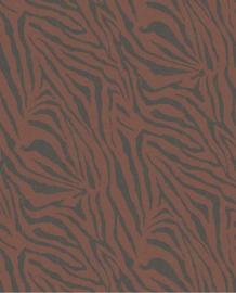 Eijffinger Skin Behang Fotobehang 300607 Zebra Rhubarb/Dieren/Huiden/Steenrood