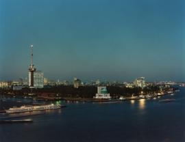 Fotobehang. Rotterdam Euromast