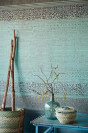Eijffinger Siroc  376090 Tapestry Turquoise/Etnisch/Oosters/Fotobehang/Blauwgroen/Goud/Bruin Behang