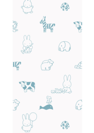 Kek Nijntje WP-502 Miffy Animals Blue Behang - Dutch Wallcoverings/Kek Amsterdam