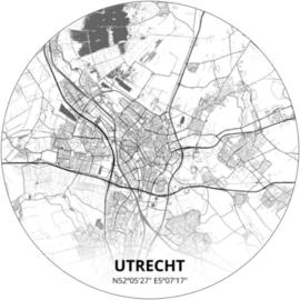 Noordwand Topchic 2021/2023 City Circles Behang Utrecht CC030 /Steden/Woonplaats/Plattegrond