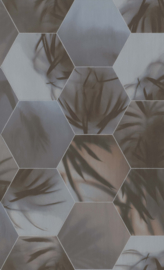 BN Wallcoverings Dimensions Behang 219574 Bladeren/Hexagon/Modern