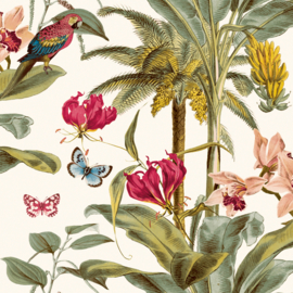 Dutch Wallcoverings Jungle Fever Behang JF2001 Tropical/Botanisch/Dieren/Vogels/Planten