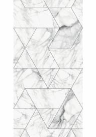 Kek Amsterdam Marble White 2D Fotobehang WP-578 Marmer/Grafisch/Klassiek/Modern/Wit