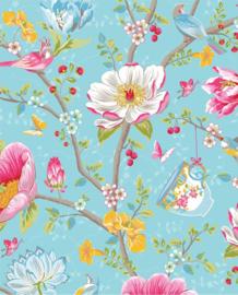 Eijffinger Pip Studio 3 Behang 341002 Romantisch/Bloemen/Blauw