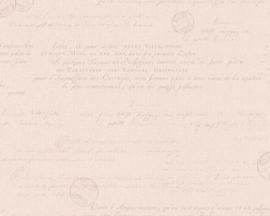 AS Creation Hugge Behang 36382-1 Landelijk/Jute/Roze/Tekst/Romantisch