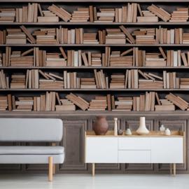 Dutch Wallcoverings One Roll One Motif Behang A41601 Bookshelf/Boekenkast/Plank/Landelijk