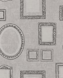 Eijffinger Black & Light  356111 Modern/Landelijk/Romantisch/Lijstjes Behang