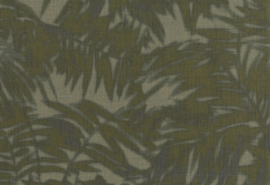 Hookedonwalls Arashi Behang 4813 Felce/Botanisch/Bladeren/Jute/Textile/Natuurlijk