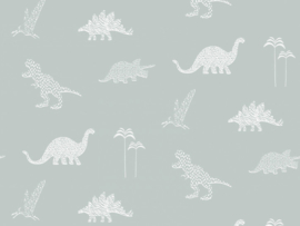 BN Wallcoverings Doodleedo Behang 220782 Dinozoo/Dinosaurus/Dieren/Kinderkamer