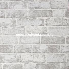 Noordwand Kids@Home Individual Behang 102835 White Brick Wall/Baksteen/Stenen/Modern/Landelijk