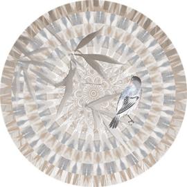 Behangexpresse Circle of Life/Select.D Cirkel TD808 Moiree/Mandala/Vogel/Blad