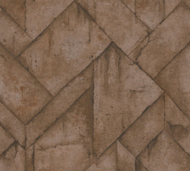 AS Creation Industrial Behang 37741-1 Modern/beton/Grafisch/Landelijk/Koper