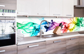 Dimex Zelfklevende Keuken Achterwand Smoke KL-260-073 Rook/Modern/Multi
