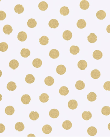 Eijffinger Rice  Behang 359060 Stippen/Dots/Goud/Kinderkamer