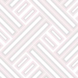 Rasch Galerie Geometrisch Behang GX37601 Geometrisch/Modern/Vlakken/Roze