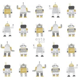 Esta Home Little Bandits Behang 138940 Robots/Kinderkamer