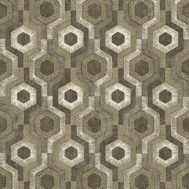 Dutch Wallcoverings Galactik Behang L92708 Modern/Retro/Zeskant/Hexagon/Stip