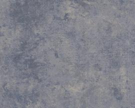 AS Creation New Walls Behang 37425-5 Uni/Structuur/Landelijk/Modern/Blauw