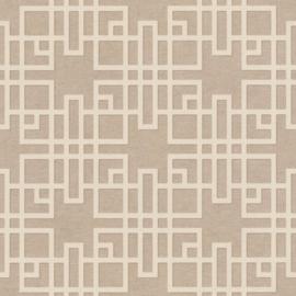 Rasch Kimono Behang 409246 Modern/Art Deco/Grafisch/Taupe