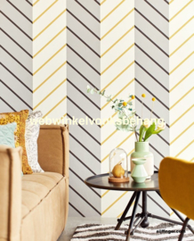 Eijffinger Stripes+  Behang 377143 Strepen/Chevron
