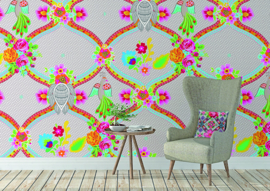 Behangexpresse Happy Living Fotobehang TD4031 Conchita/Ornament/Bloemen/Vogels/a Spark of Happiness Behang