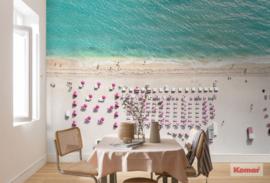 Komar Pure P011-VD4 Pink Umbrella/Paraplu/Strand/Zee Fotobehang Noordwand